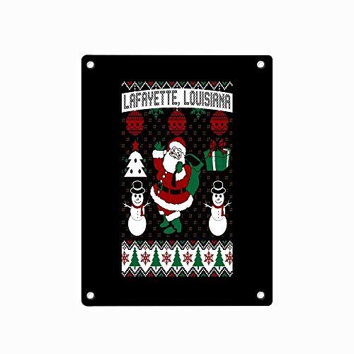 Christmas Ugly Sweater Lafayette Louisiana Personalized Custom Tin Sign 12