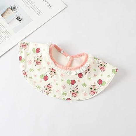 Bebé redondo, suave y amigable con la piel babero 360 grados ...