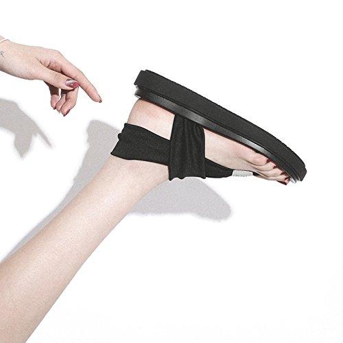 QQWWEERRTT Mode Neue Sandalen Sandalen Neue Studentin Xia Pingdi Strand Schuhe Vintage Roman Schuhe 16bd13