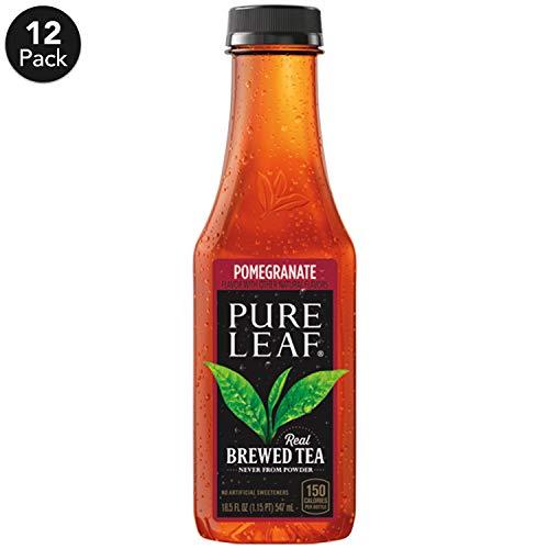 Pure Leaf Iced Tea, Pomegranate, Real Brewed Tea, 18.5  Fl Oz (Pack of 12)