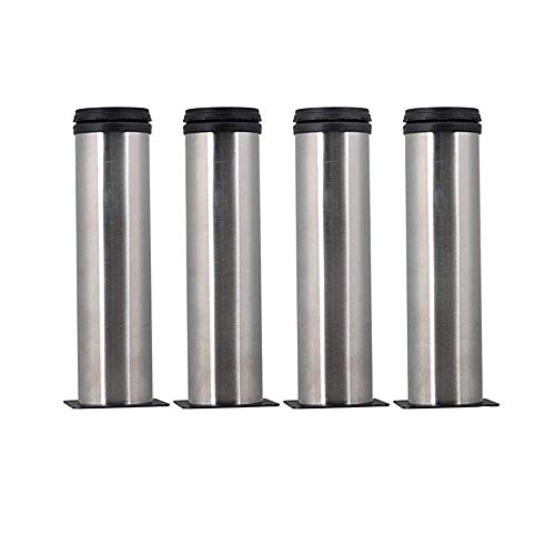 AOWISH 4-Pack 150 mm(6 Inch) Stainless Steel Furniture Cabinet Metal Legs Round 2