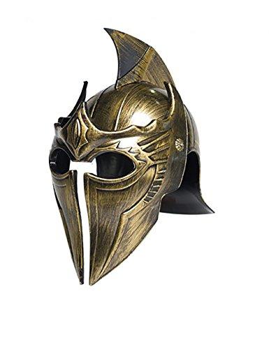 Centurion Helmet Costume (Underwraps Adult Gladiator Point Helmet - Gold)
