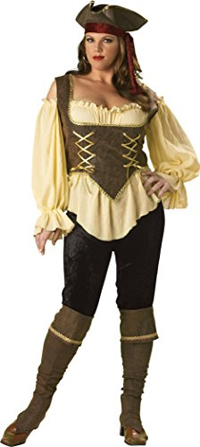 [InCharacter Women's Rustic Pirate Lady Costume - 3X - Tan/Brown] (Pirate Lady Costumes Plus Size)