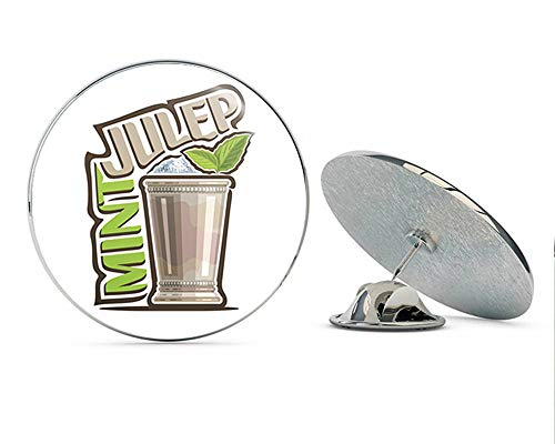 BRK Studio Yummy Delicious Alcoholic Beverage Cartoon - Mint Julep Round Metal 0.75
