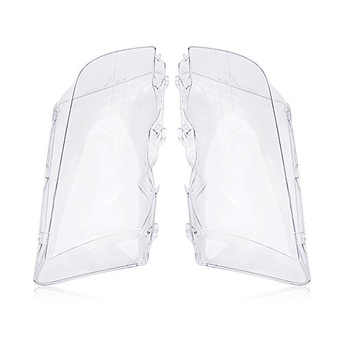 (Estink Headlight Lens Cover for BMW,1 Pair Left and Right Headlight Headlamp Clear Lens Cover for BMW E46 3 Series 4-Door 1998-2001)