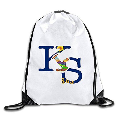 HNN Kansas Drawstring Backpacks Sack Bags