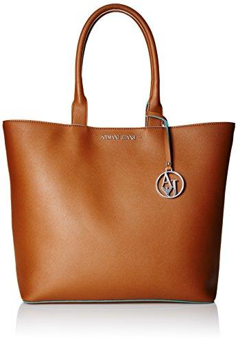 ca7750dd3d ARMANI JEANS Borsa shopping a spalla in saffiano COGNAC 922535CC856 ...