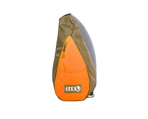 Eagles Nest Outfitters ENO Possum Pocket Sling Backpack, Khaki/Orange by Eagles Nest Outfitters