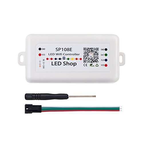 (BTF-LIGHITNG WS2812B WiFi SP108E Controller Support WS2811 WS2815 WS2801 SK6812 WS2813 SK9822 APA102C etc Almost All LED Strip Module Light iOS/Android App Group Control AP Mode/STA)