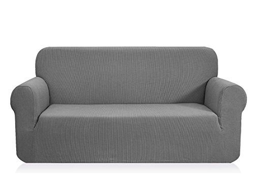 (CHUN YI Jacquard Covers 1-Piece Polyester Spandex Fabric Slipcover (Sofa, Light Gray))