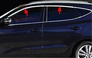 Accesorios para Hyundai ix35 punteras cromo Ventana listones umrandung Tuning: Amazon.es: Coche y moto