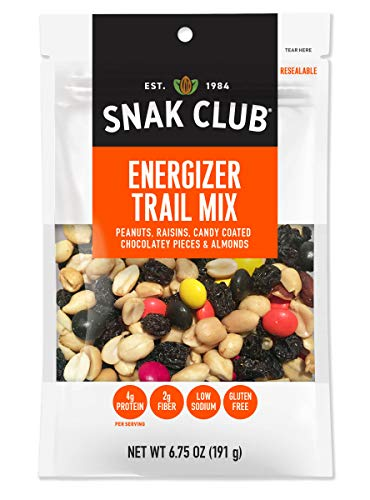 Snak Club Energizer Trail Mix, Gluten Free, 6.75-Ounces , 6-Pack