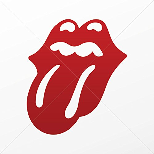 Music Stickers Rolling Stones (Decal Stickers Rolling Stones Decoration Bike Motorbike Bicy Red Dark (4 X 3.48 Inches))