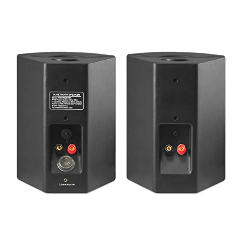 Pyle Pair Of Wall Mount Waterproof & Bluetooth 6.5'' Indoor/Outdoor Speaker System, With Loud