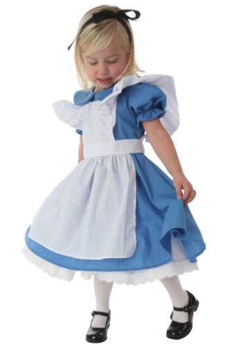 Little Girls' Deluxe Toddler Alice Costume … (12 (Girls Alice In Wonderland Fancy Dress)