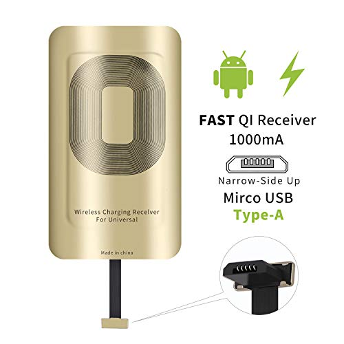 (Qi Wireless Charging Receiver Type A Compatible with Samsung Galaxy J7 - J3 - J6 -J8 - Sky Pro- Prime- Galaxy S5- Note 2 3- HTC Desire 10 - ZTE)