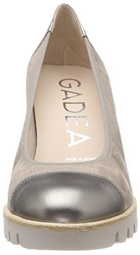 Tacón Stone para 40981 Laton Punta Ante de Mujer Multicolor Zapatos con Gadea Laton Cerrada Opac wB4qx