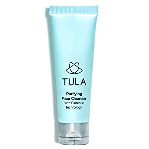 TULA Probiotic Skin Care Purifying Face Cleanser, Deep Pore Cleansing Wash, Removes Makeup, Nourishing and Hydrating, 1 oz.