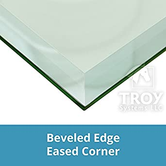 TroySys 1/2u0026quot; Thick Bevel Polished Annealed Glass Table Top, ...