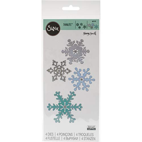 (Sizzix 661541 Thinlits Die Set, Snowflakes Number 2 by Sharyn Sowell (4-Pack))