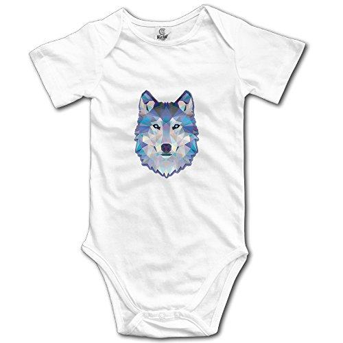 c4cea698d Newborn Cool Wolf Short Sleeve Babysuit Baby Onesie For Boy Girl White 24  Months