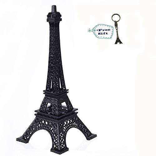 Paris France Eiffel Tower - Eiffel Tower Paris France Metal Stand Statue Model for Home Decor or Wedding Theme (Black)