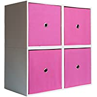 4-Cube Organizer with Drawers (Bubblegum)