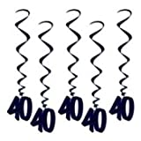 40 Whirls (black) Party Accessory  (1 count) (5/Pkg), Health Care Stuffs