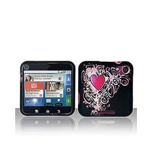 Black Heart Hard Cover Case for Motorola Flipout MB511
