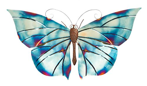 Cape Craftsmen Butterfly Metal Wall Decor in Buffed Luster Blue