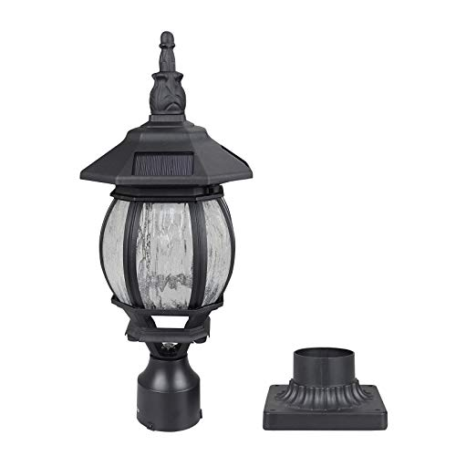 - Kemeco ST6220Q-H LED Cast Aluminum Solar Post Light Fixture with 3-Inch Fitter Base for Outdoor