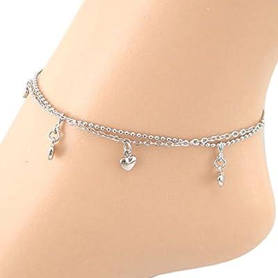 New SusenstoneDouble Love Women Chain Anklet Bracelet Sandal Beach Foot Jewelry supplier