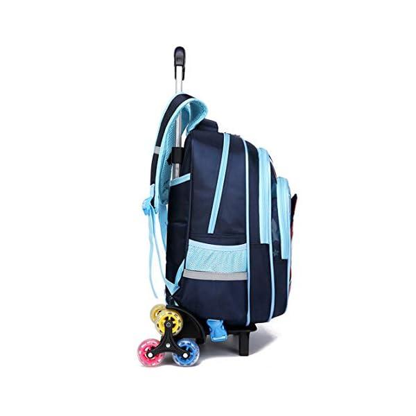 MODRYER Borsa Kid Spiderman Zaino elementare Studenti Zaino duplice Uso Ruote School Children Trolley Pack per 6-12 Anni… 2 spesavip