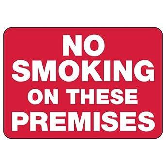 Amazon.com: Cartel magnético sin fumar en los locales – 14.0 ...