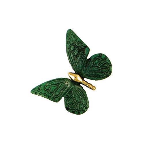 Monarch Butterfly Doorbell Ringer - Brass/Green Patina ()