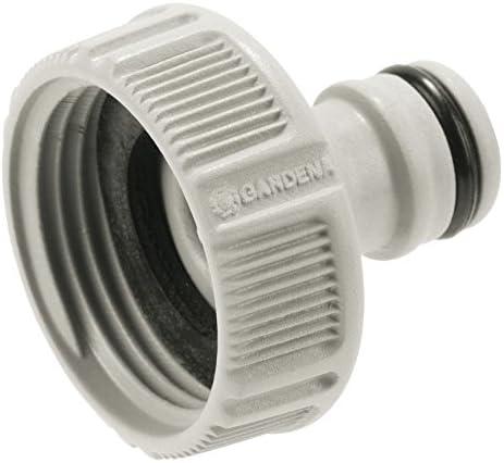 Gardena Hahnverbinder 33.3 mm (G 1 Zoll): Anschluss für Wasserhähne mit Gewinde, wasserdichte Schlauchverbindung, einfache Handhabung, verpackt (18202-20)