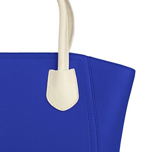 Cross Bag Faux Shoulder McKenna Over Blue Mini Women Leather Bag Tote qZYpxwaT6y