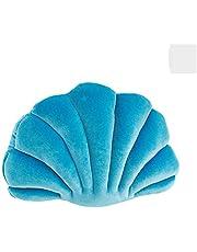 VKTY Seashell vormige kussen fluweel gezellige massieve gooien kussensloop decoratieve bank kussen gooien kussens shell met kussen insert voor thuis sofa bed woonkamer decor, gooien kussens