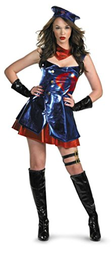 Commander Cobra Costumes (Disguise Womens Cobra Commander G I Joe Theme Party Fancy Halloween Costume, S)