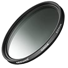 Neewer 52mm Graduated Neutral Density G.ND8 Filter for Nikon D3300 D3200 D3100 D5500 D5300 D5200 D5100 DSLR Camera Canon EOS M3 Mirrorless Camera and Other Cameras with 52mm Lens Thread