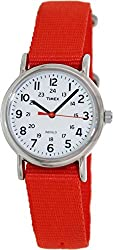 Timex Weekender White Dial Brass Textile Quartz Ladies Watch T2N870