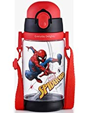 Marvel Spider-Man Water Bottle Double Covers with Straw and Strap 520ml