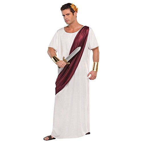 (AMSCAN Augustus Caesar Halloween Costume for Men, Standard, with Included)