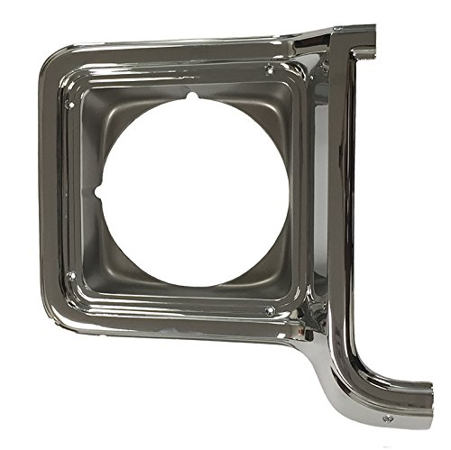 - Auto Metal Direct Headlight Bezel - RH Chrome/Dark Gray - 73-78 Chevy GMC Truck Blazer Jimmy Suburban