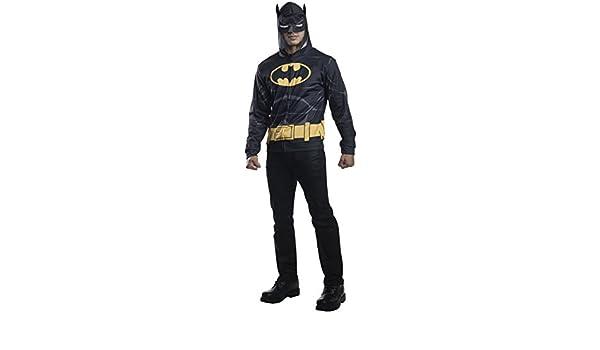 Adulto disfraz de Batman sudadera con capucha: Amazon.es ...