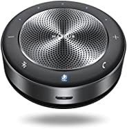 Enther & MAXHUB Altavoz Bluetooth, micrófono de Conferencia, Altavoces de Ordenador con micrófono, 6 micró