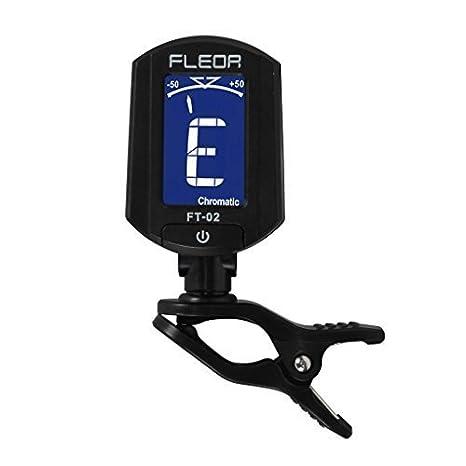 fleor Mini Con Clip Guitarra Eléctrica Bajo Ukelele Violín Clavija Pantalla LCD, negro: Amazon.es: Instrumentos musicales