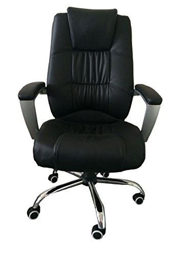 MCombo 6155-3045 High Back Leather Executive Office Chair with Metal Base.