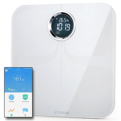 Yunmai Premium Smart Scale - U.S. Exclusive Version - Body Fat Scale with Fitness APP & Body Composition Monitor with Extra Large Display