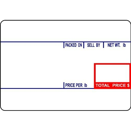 (CAS LST-8010 Printing Scale Label, 58 x 40 mm, UPC
